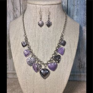 Paparazzi necklace in a Silver and Purple